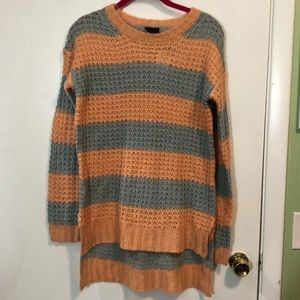 Rue 21 Striped High Low Sweater